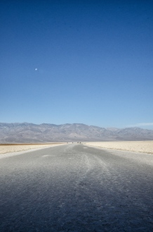 The salty path in Badwater.