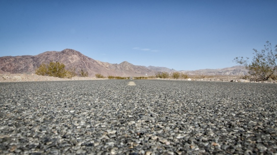 Driving through Death Valley - it is greener than expected at times.